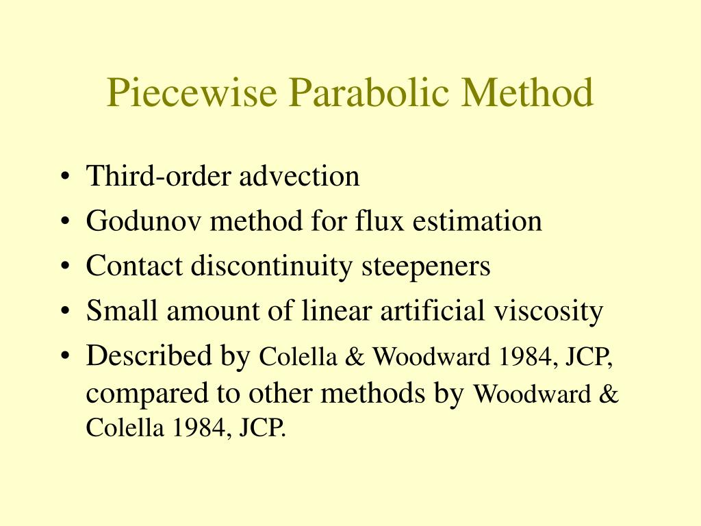 Piecewise Parabolic Method