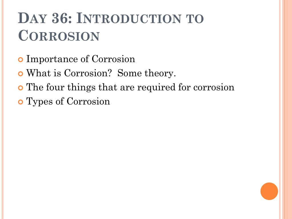 day 36 introduction to corrosion l.