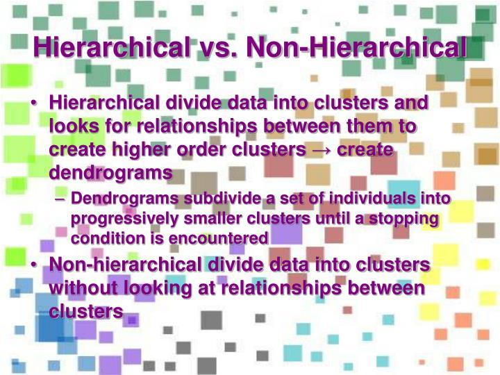 Hierarchical vs. Non-Hierarchical
