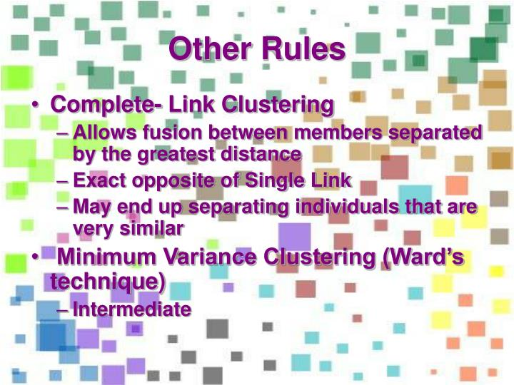 Other Rules