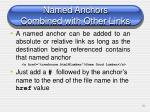 named anchors combined with other links