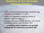 summary of u s hurricane damage statistics