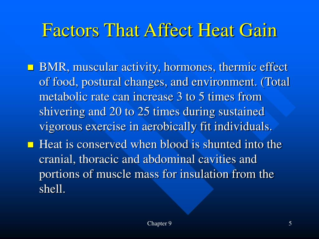 Factors That Affect Heat Gain