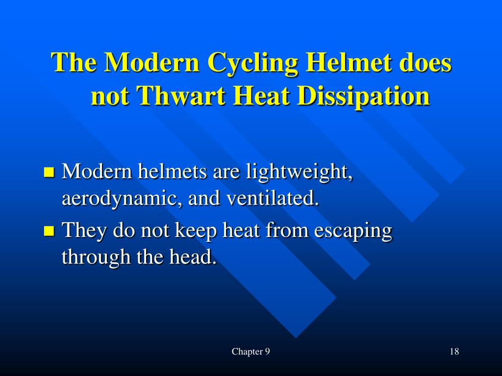 The Modern Cycling Helmet does not Thwart Heat Dissipation