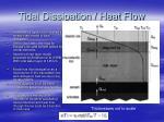 tidal dissipation heat flow