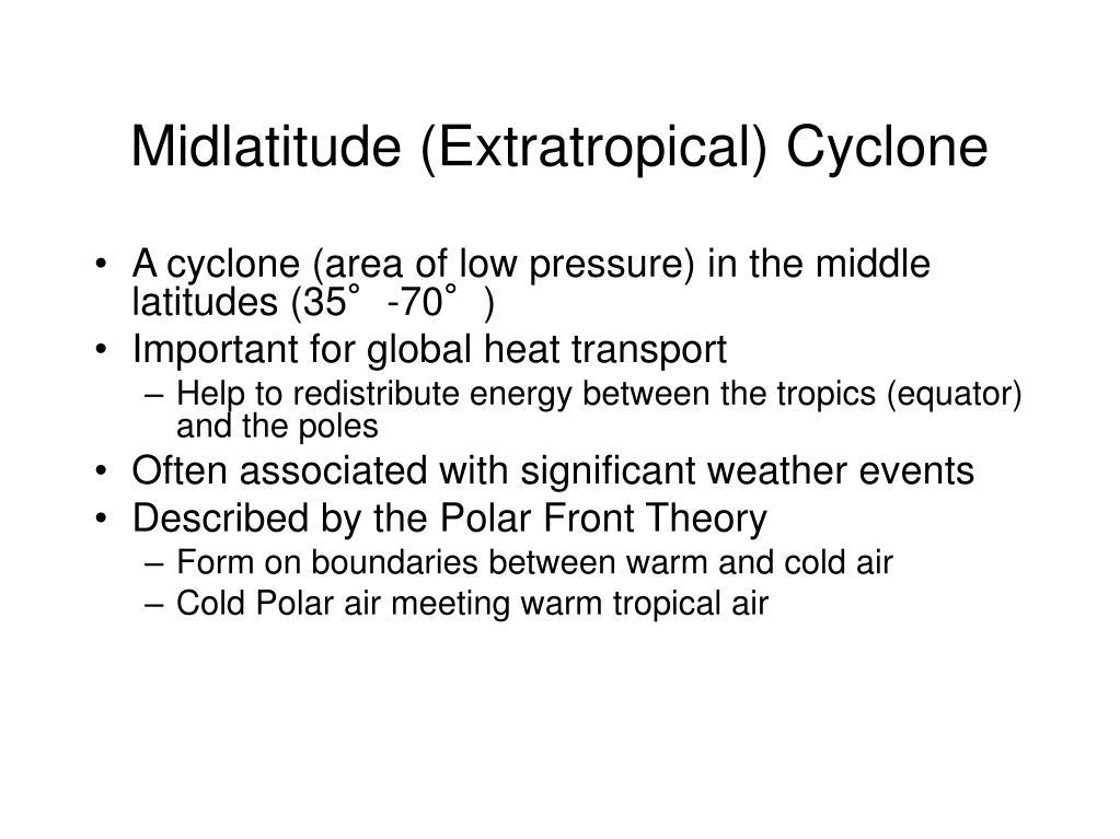 Midlatitude (Extratropical) Cyclone