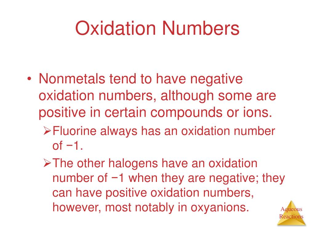 Oxidation Numbers