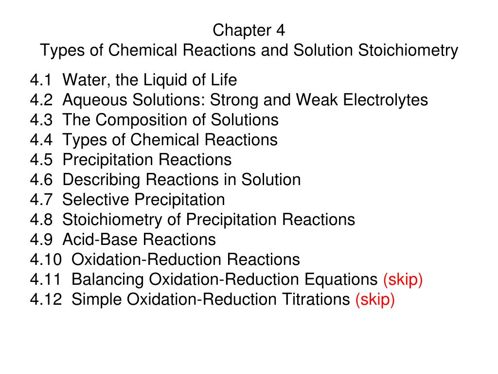 Assignment 5. 07: solution stoichiometry. Solution concentration.