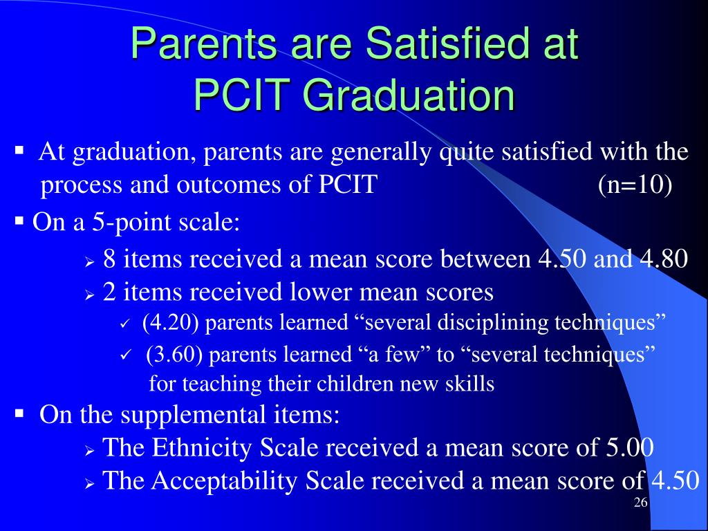 Parents are Satisfied at