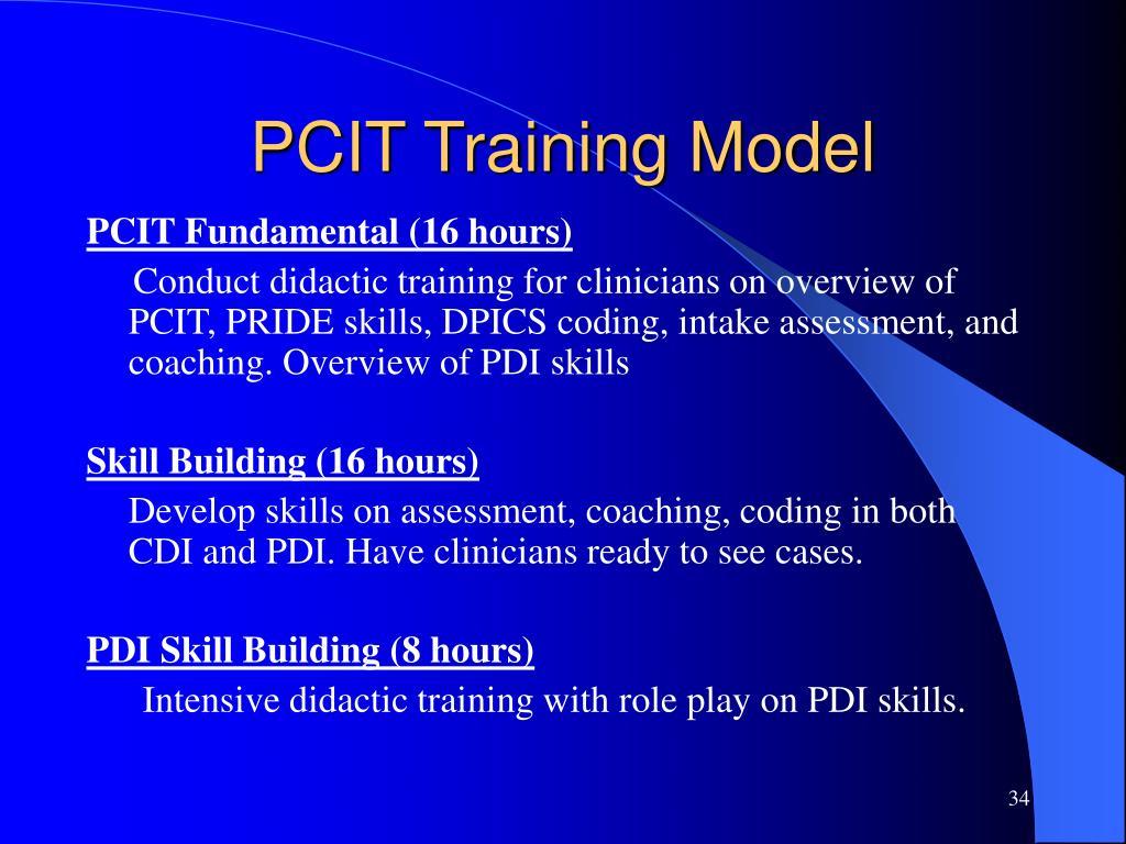 PCIT Training Model