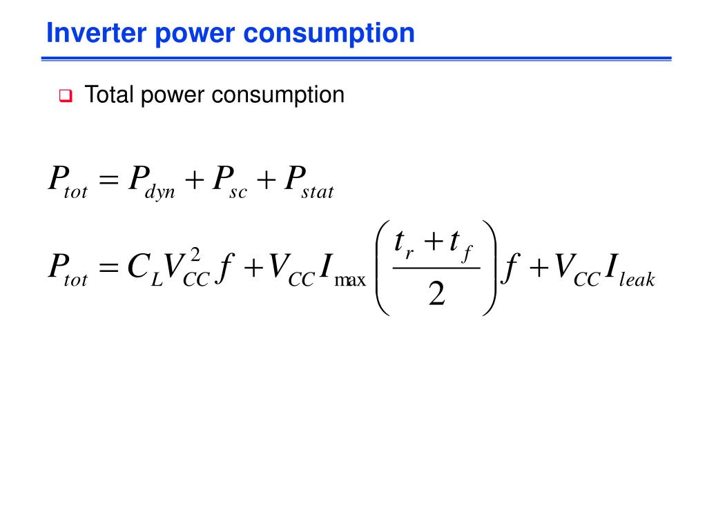 Inverter power consumption