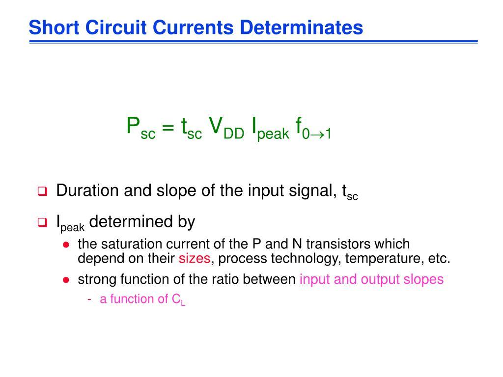 Short Circuit Currents Determinates