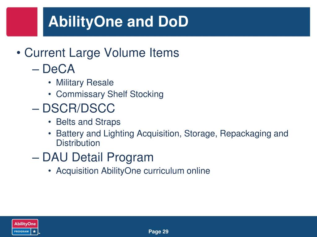 AbilityOne and DoD
