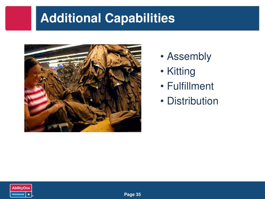 Additional Capabilities