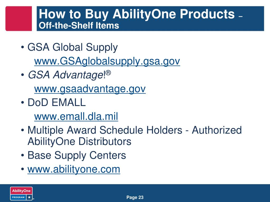 How to Buy AbilityOne Products