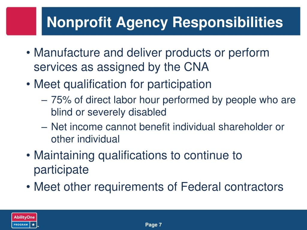 Nonprofit Agency Responsibilities