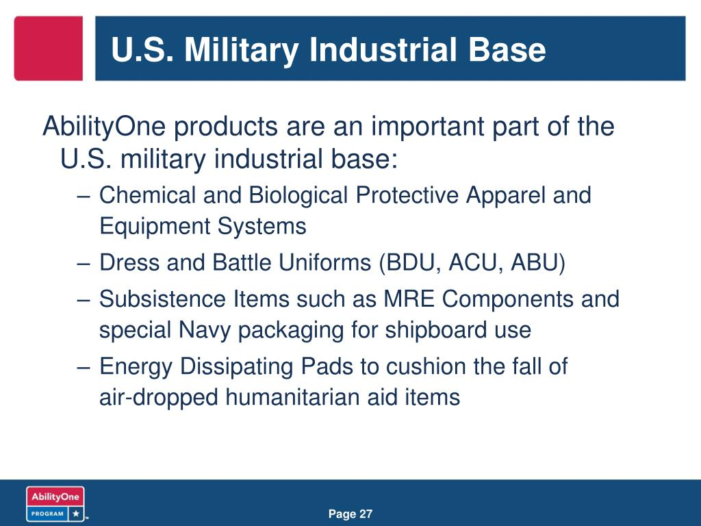 U.S. Military Industrial Base