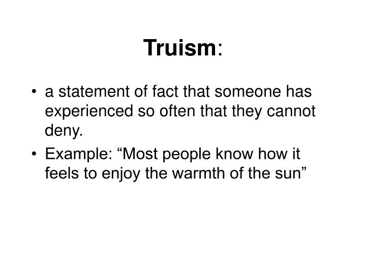 Truism