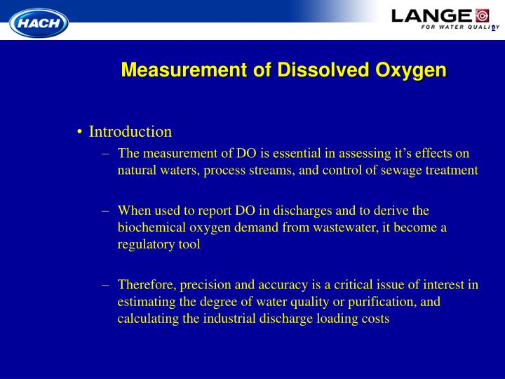 Measurement of dissolved oxygen