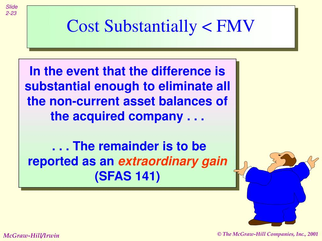 Cost Substantially < FMV