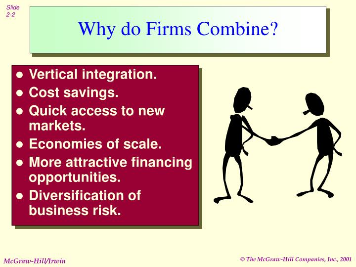 Why do firms combine