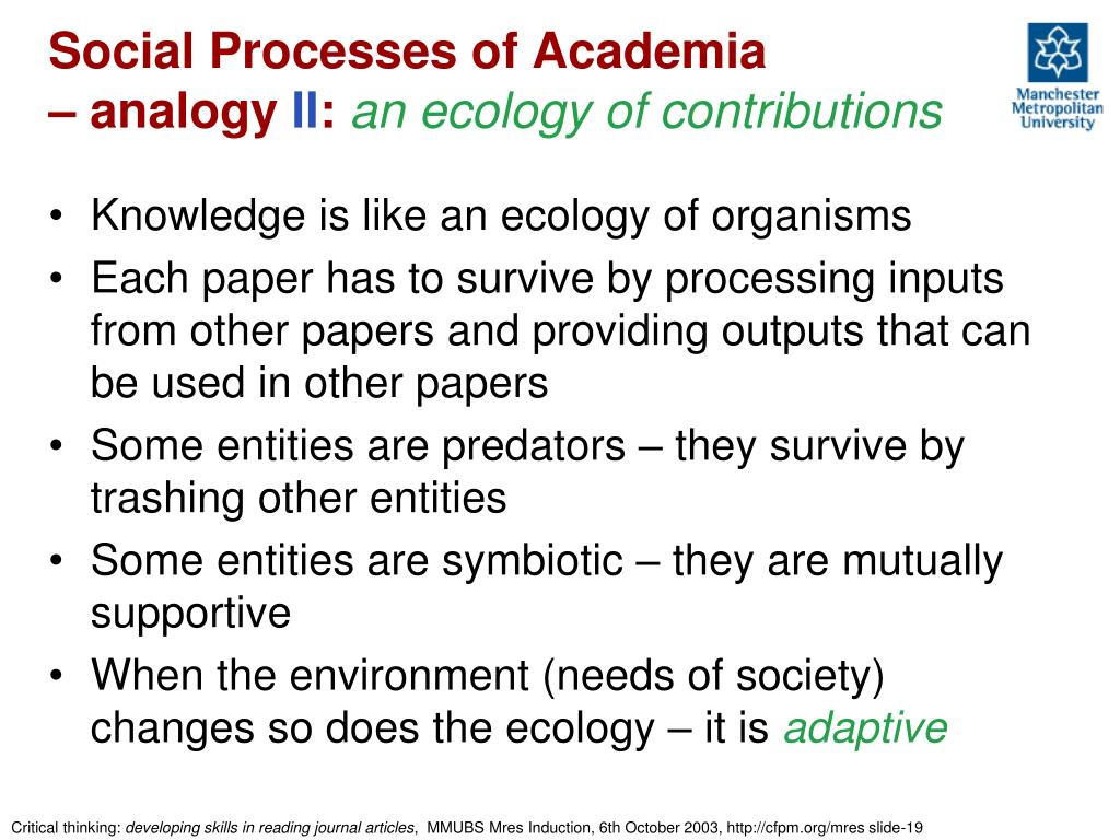 Social Processes of Academia
