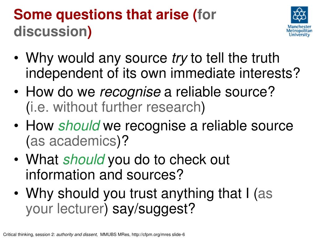 Some questions that arise (