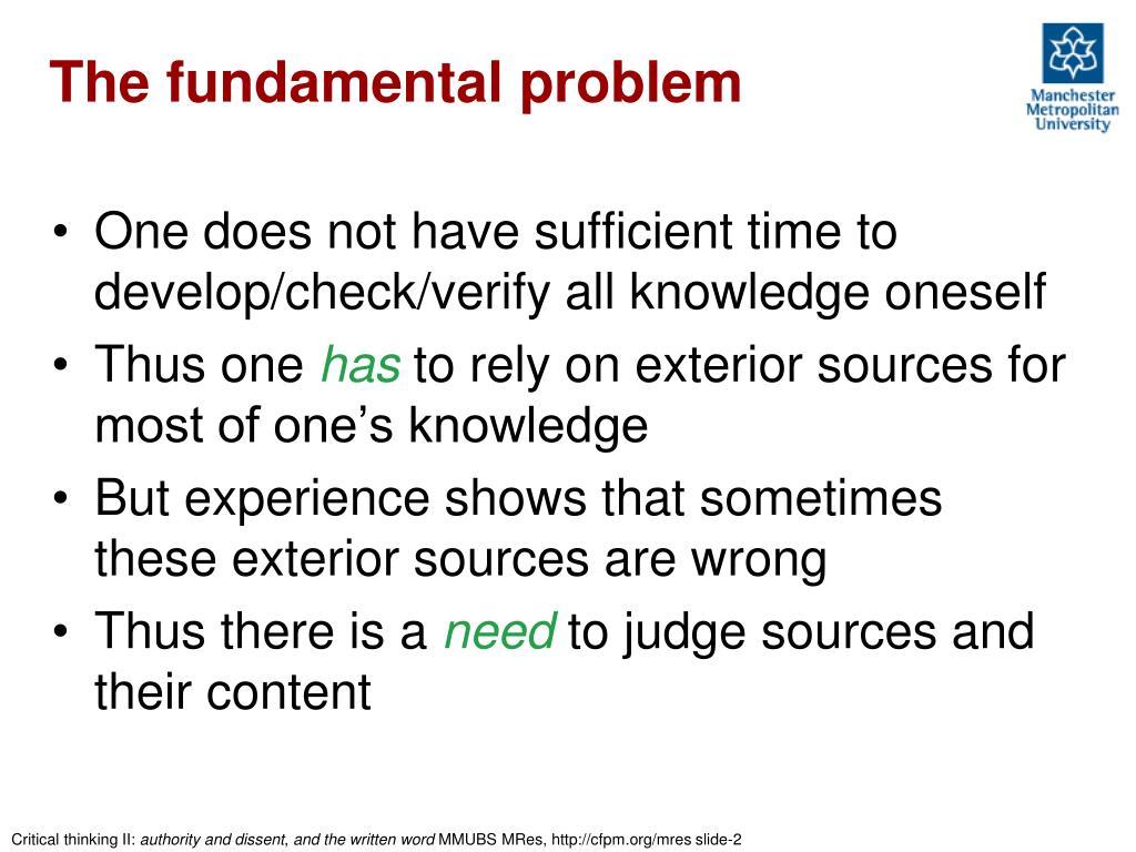 The fundamental problem