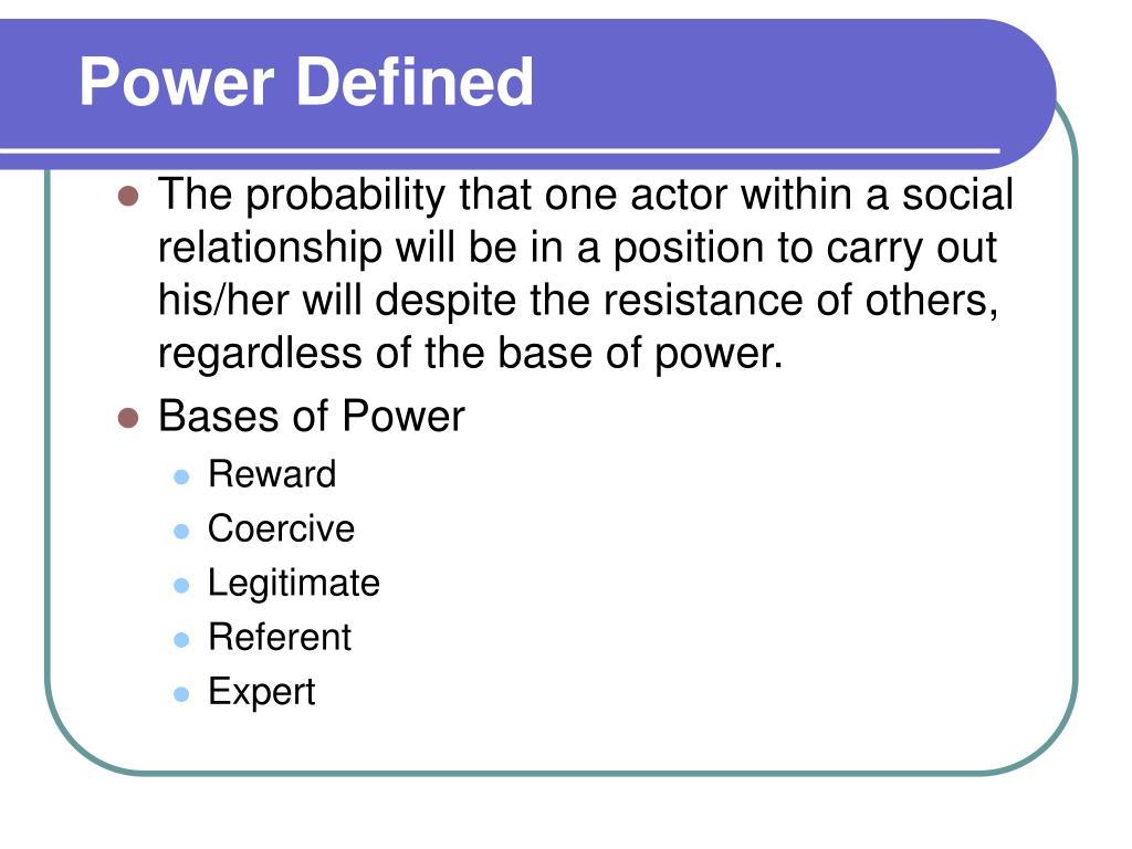 Power Defined