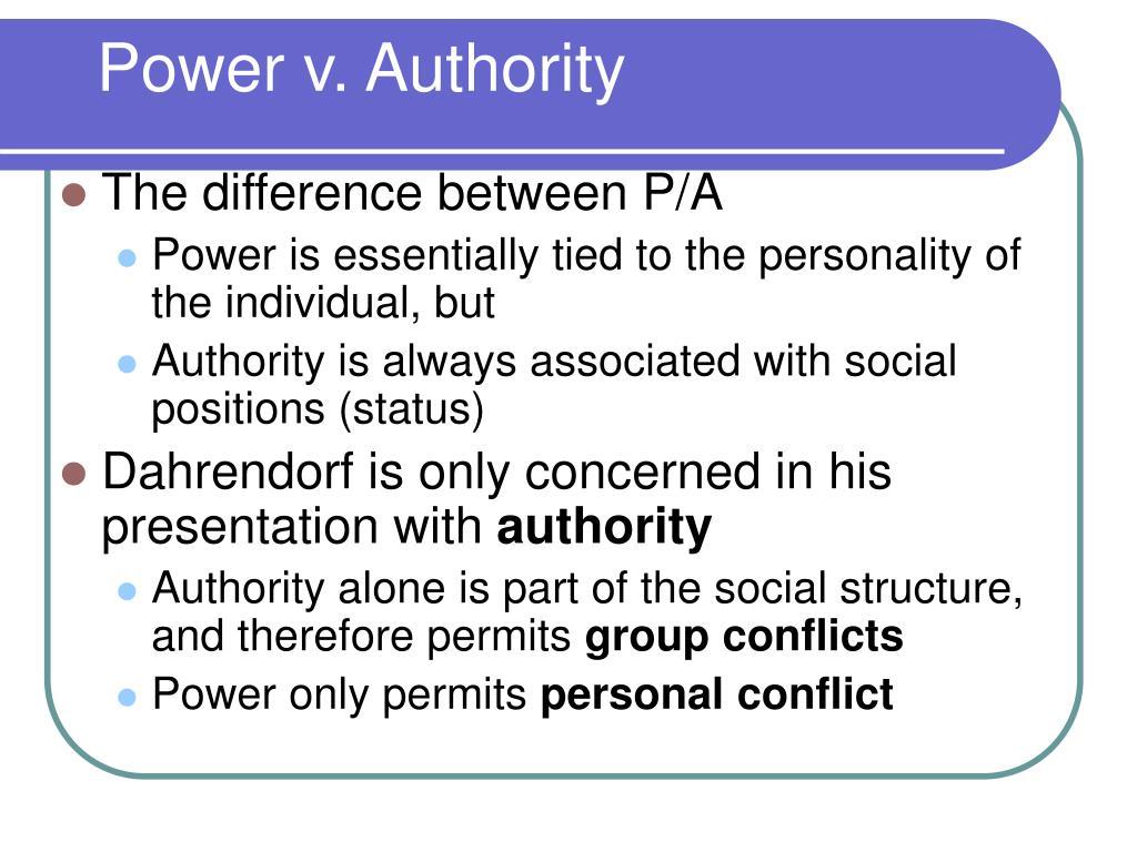 Power v. Authority