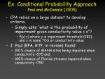 ex conditional probability approach paul and mcdonald 2005