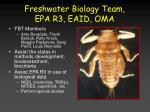 freshwater biology team epa r3 eaid oma