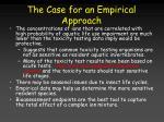 the case for an empirical approach30