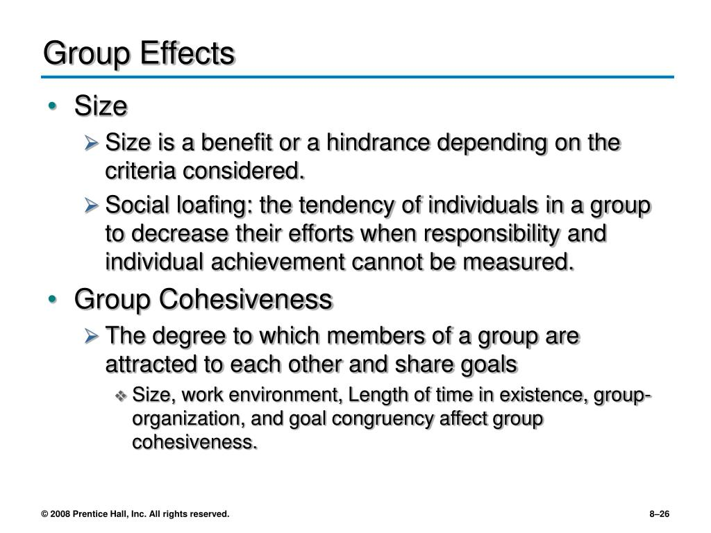Group Effects