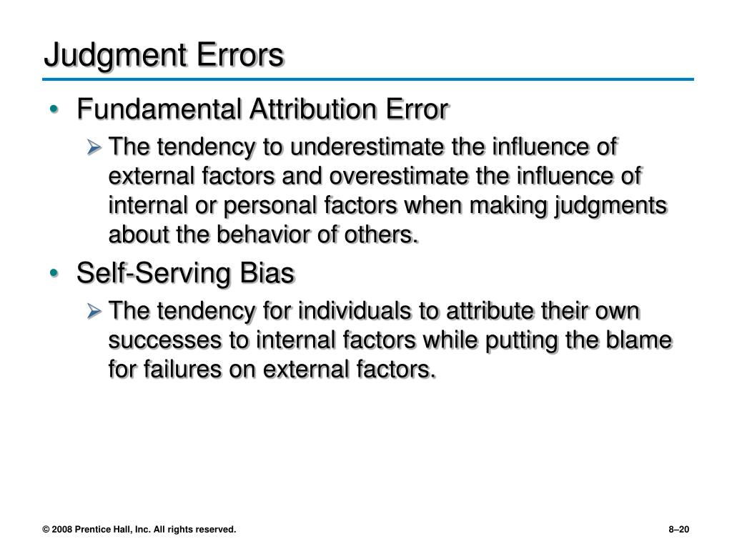 Judgment Errors