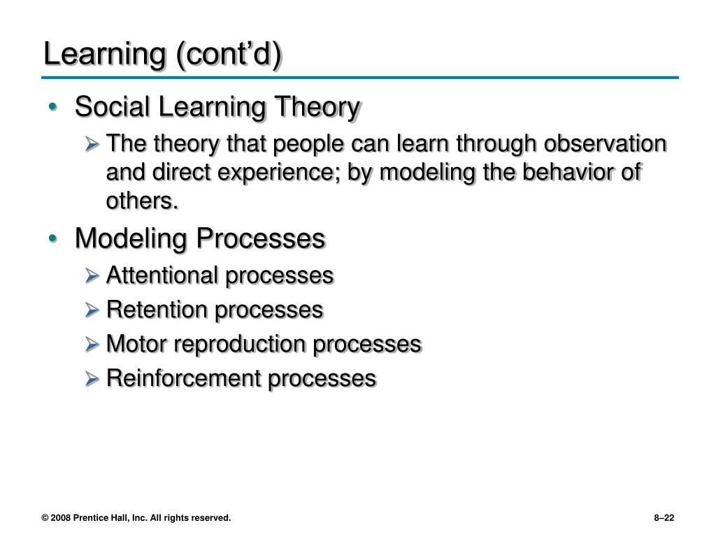 Learning (cont'd)