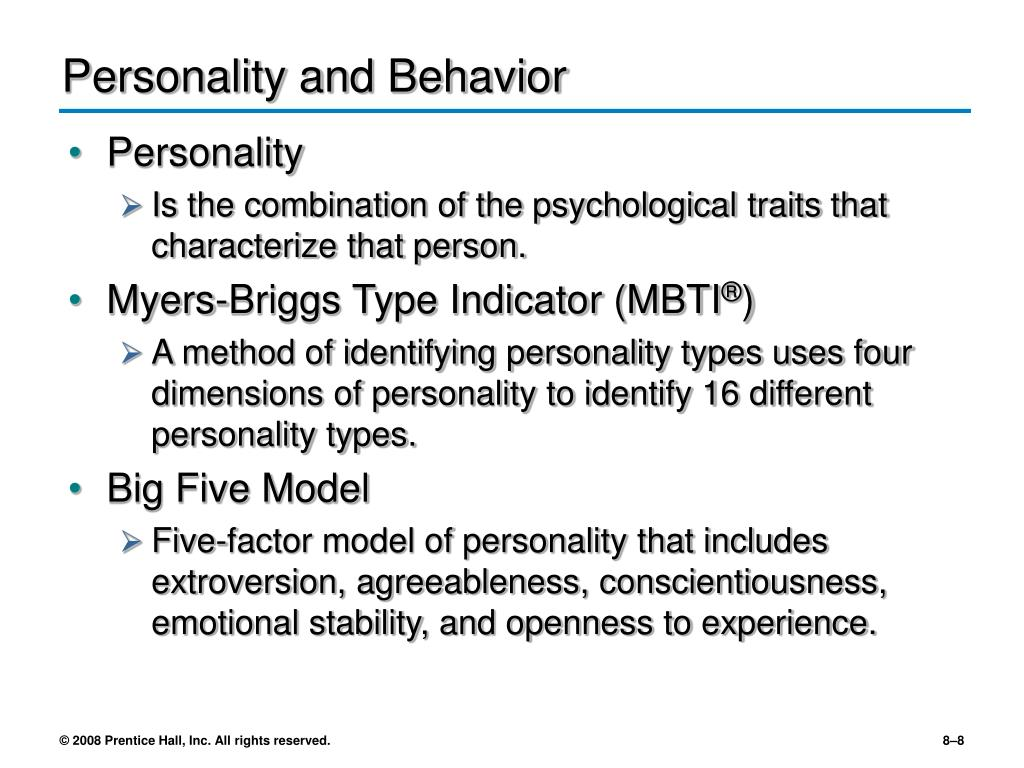 Personality and Behavior