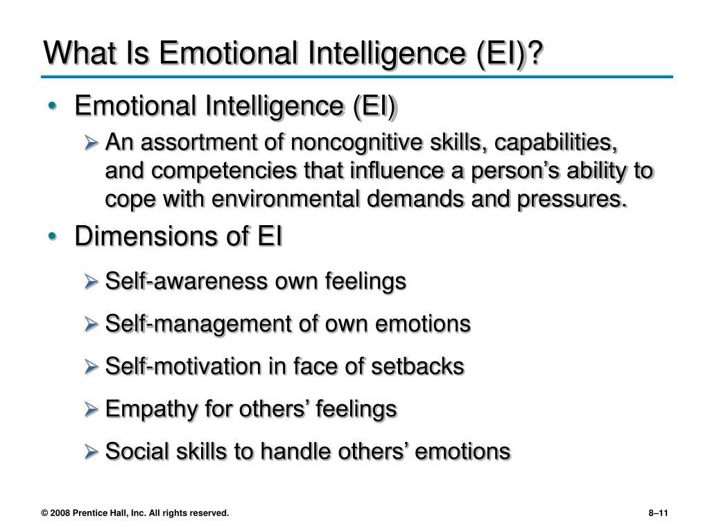 What Is Emotional Intelligence (EI)?