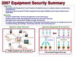 2007 equipment security summary