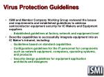 virus protection guidelines