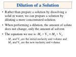 dilution of a solution