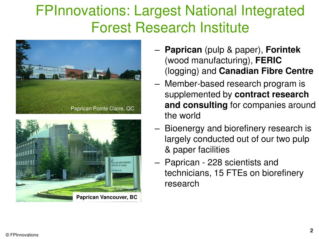 pulp and paper research institute of canada paprican