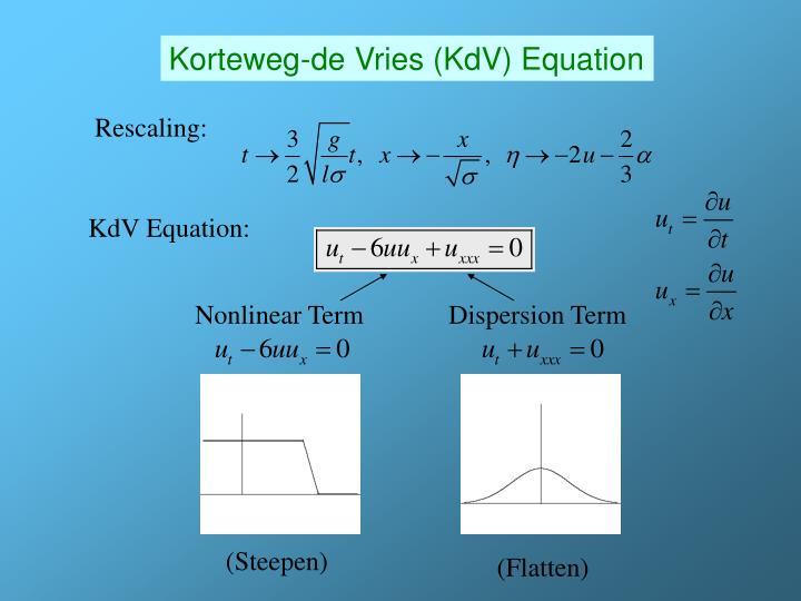 Korteweg-de Vries (KdV) Equation