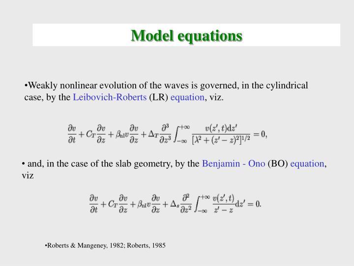 Model equations