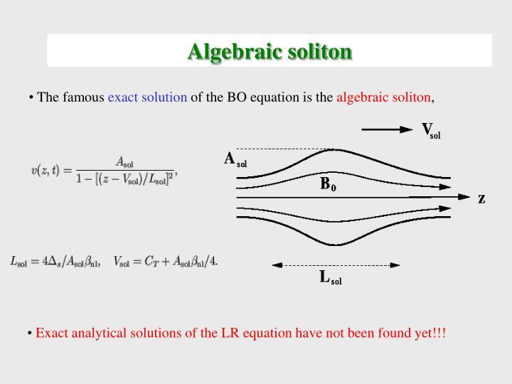 Algebraic soliton