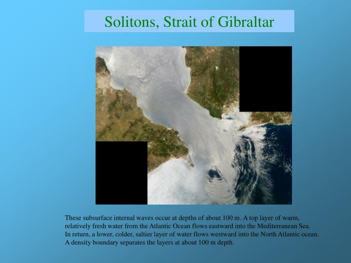 Solitons, Strait of Gibraltar
