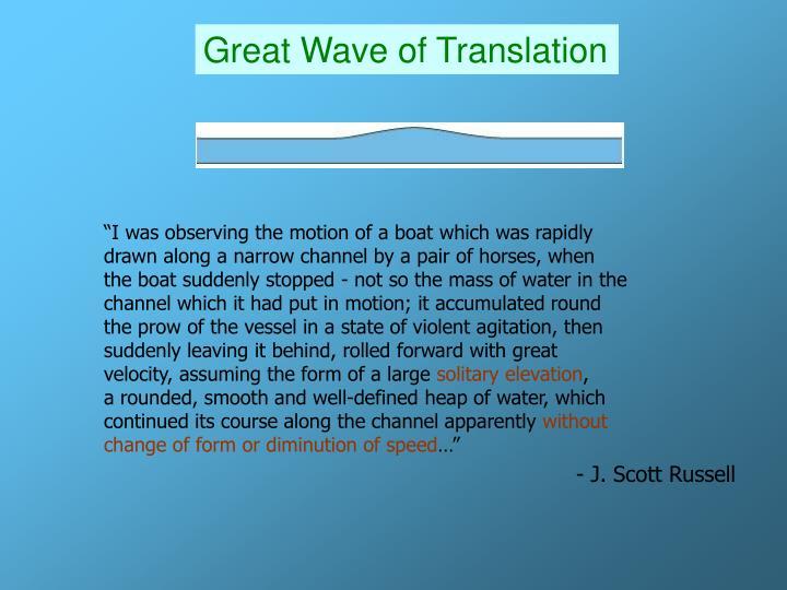 Great Wave of Translation