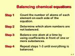 balancing chemical equations5