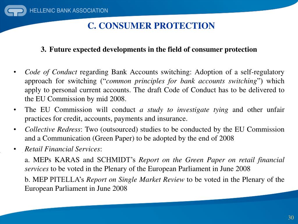 C. CONSUMER PROTECTION