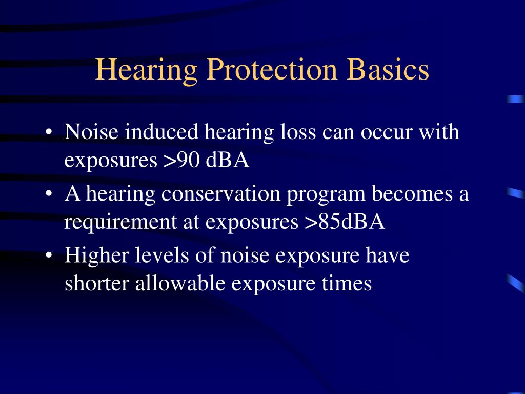 Hearing Protection Basics